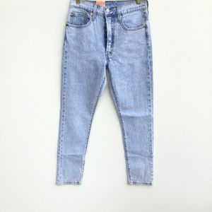 NWT Levi's 501 High Rise Straight Tapered Jeans 26